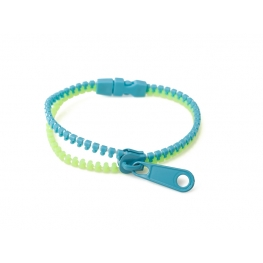SkyBlue - Green zip